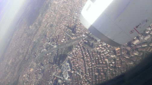 View from airplane, Istanbul