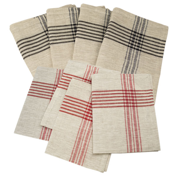 kitchen towel villeroy boch sinks red stripes jan de luz linens striped series