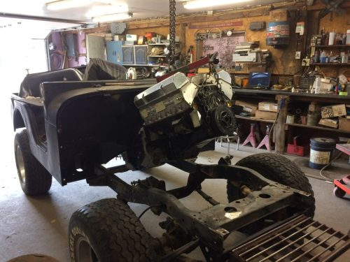 small resolution of a 1975 jeep cj5 build should be a fun project with a 383 small block chevy stroker and an nv4500 5 speed transmission for the powertrain
