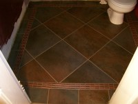Slate Tile with Glass Accent Border