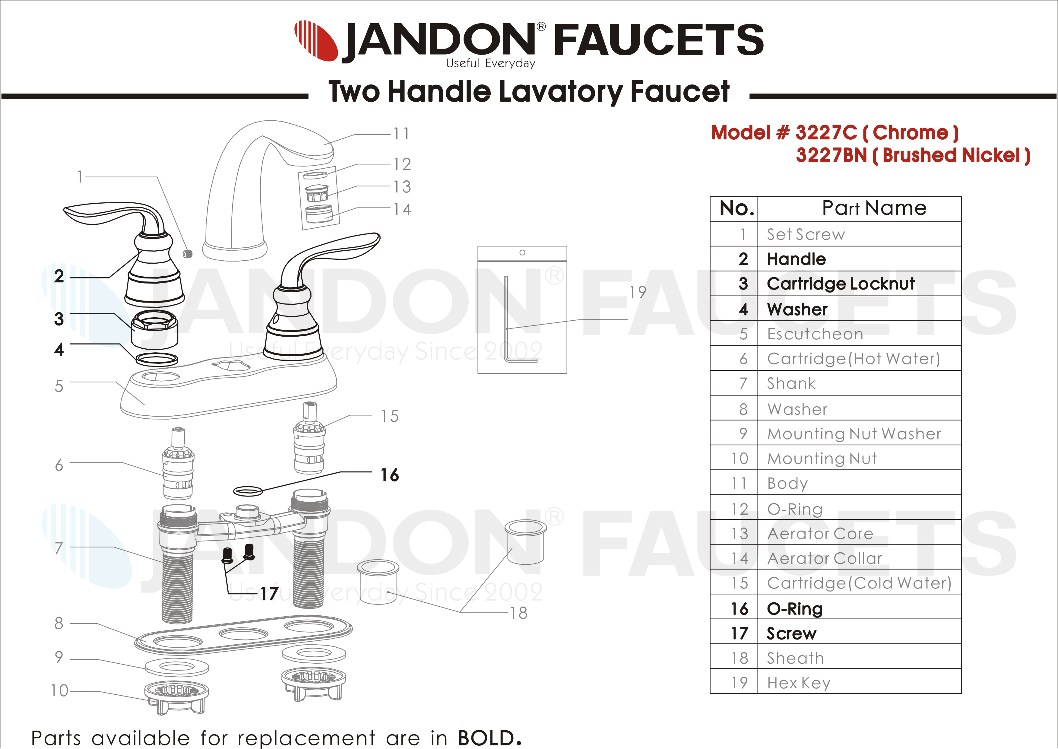 Jandon Faucet » Useful Everyday Since 2002 » 3227 • Two