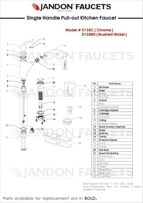 Jandon Faucet » Useful Everyday Since 2002 » 5135 • Single