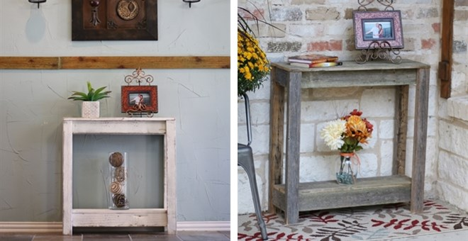 Rustic Console Table | 5 Colors