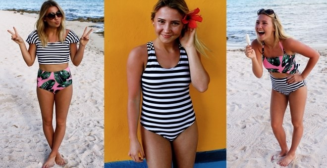 Black + White Summer Swimwear Collection!