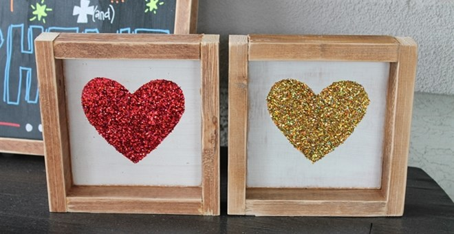 Beautiful Glitter Heart Boards
