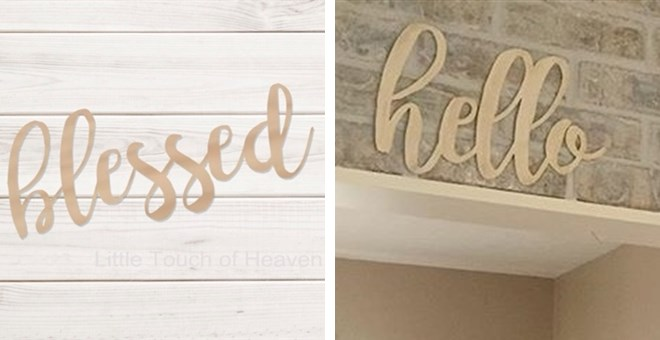"Wooden Word Signs | 18"" Long"