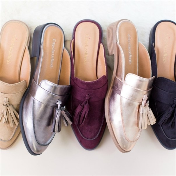 Slide Loafers with Tassel / 6-11!