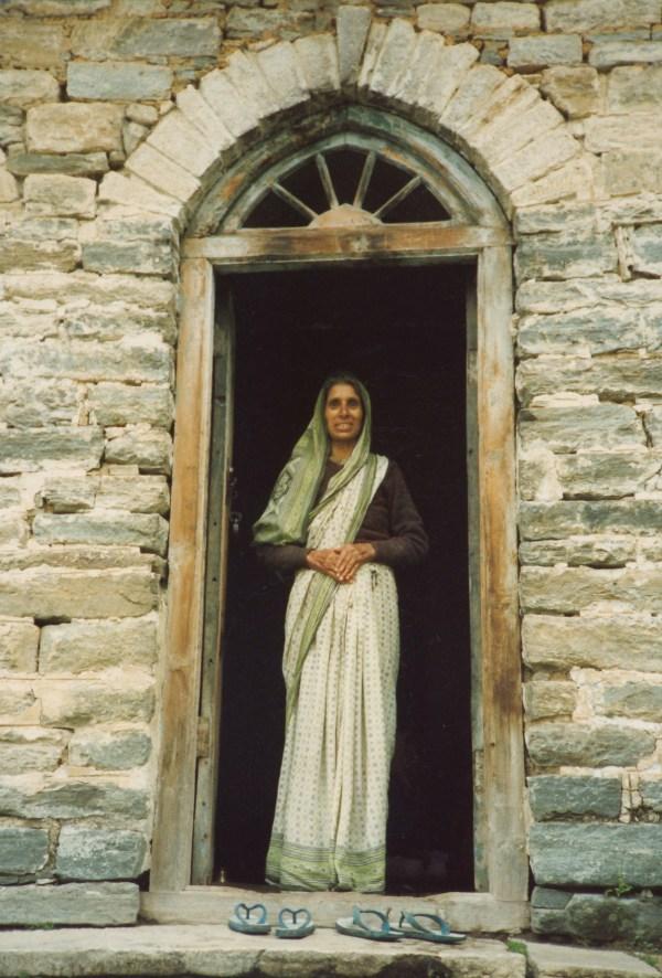6 Badrinath Woman In Doorway Janeadamsart