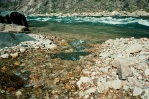 Brook going into the Colorado river, Grand canyon