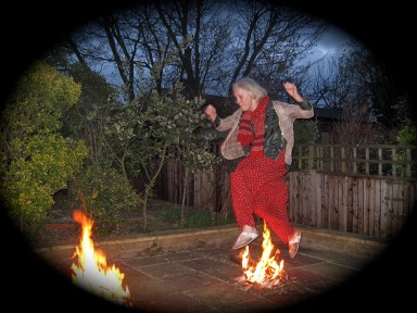 jumping over the fire, new year