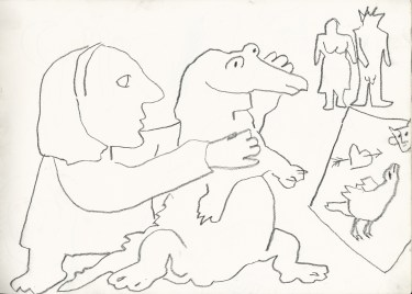 Turn and draw it with your left hand. 1987jpg