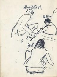 169 pestalozzi sketches - mr cartlidge with children