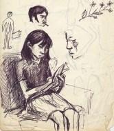 221 pestalozzi sketches - tibetan girl