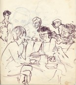 227 pestalozzi sketches - staff at lunch