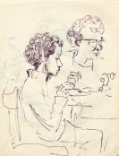 247 pestalozzi sketches - staff & daughter