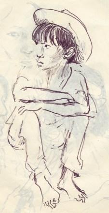 251 pestalozzi sketches - tibetan girl