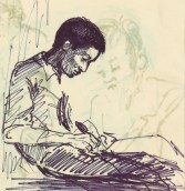 284 Pestalozzi sketches - Max writes home