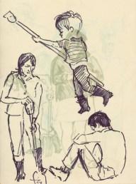 286 Pestalozzi sketches - Vreni, max & twin