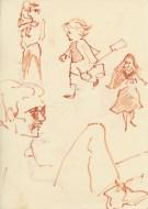298 Pestalozzi sketches - child and nun