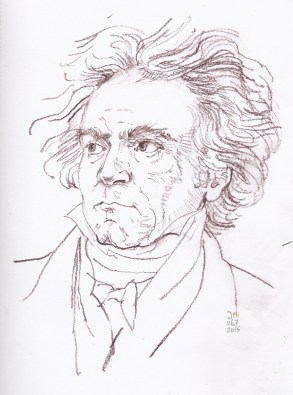 Sketch after the drawing by van Kloeber