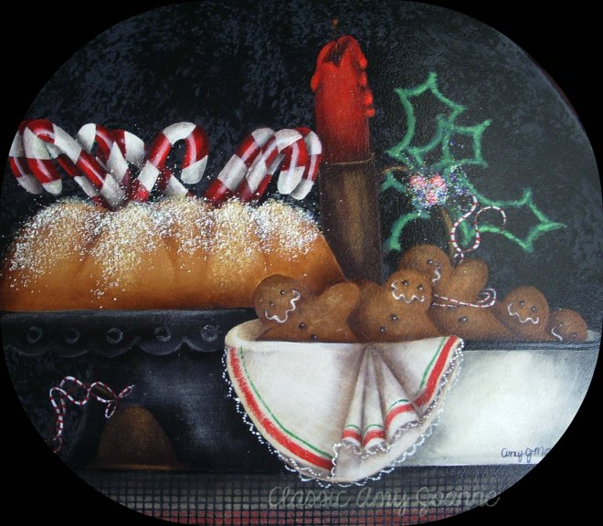 Amy's original design on cake stand