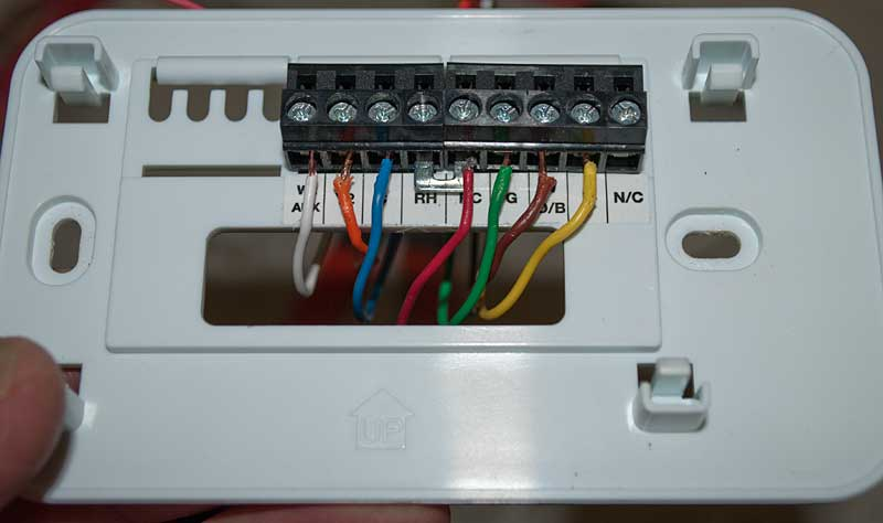two stage thermostat wiring diagram nissan frontier stereo replacing the coleman mach with an ecobee