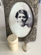 Ann Maria Burt's Thimble in Ivory Case
