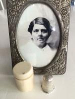 Ann Maria Burt's Thimble in Ivory Case