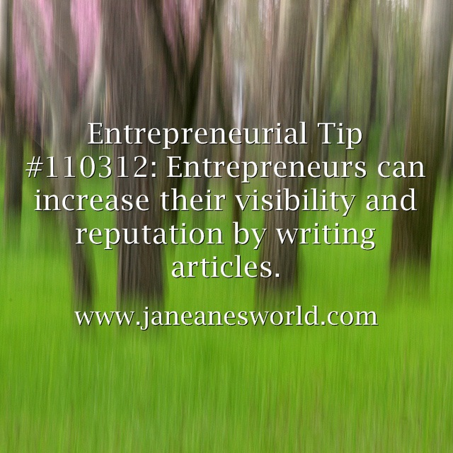 www.janeanesworld.com entrepreneurs write