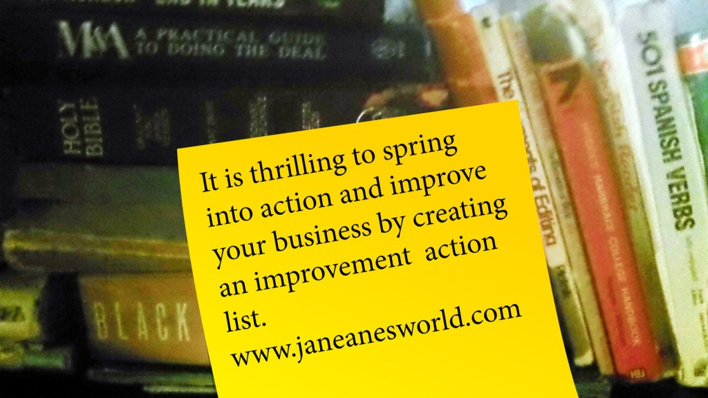 spring into action and take action now