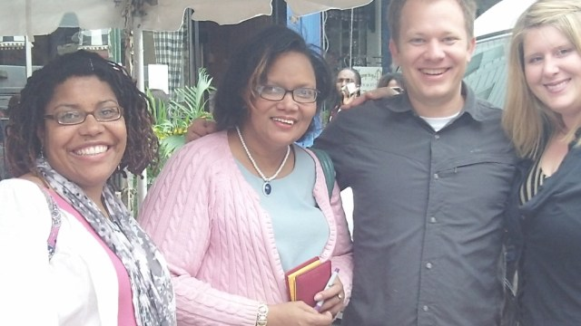 Photo with Rachee Fagg, Janeane Davis, Seth Arnold and Heather Wray
