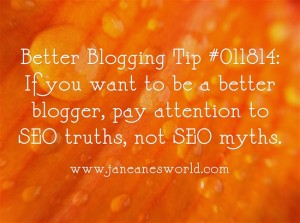 www.janeanesworld.com better blogging and better business watch SEO