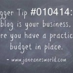 www.janeanesworld.com blog with a budget
