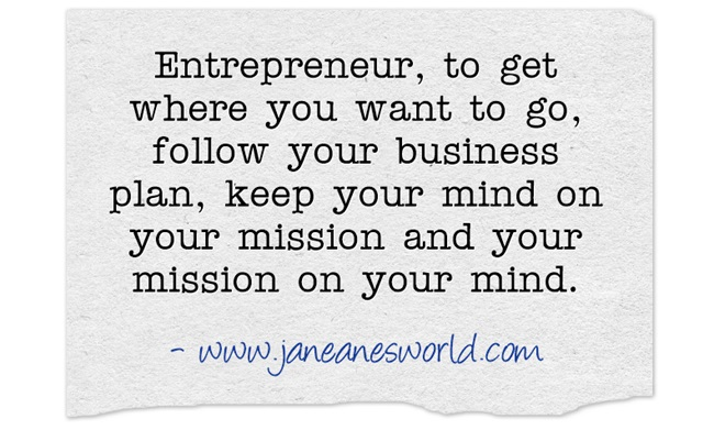 entrepreneur stay in lane www.janeanesworld.com