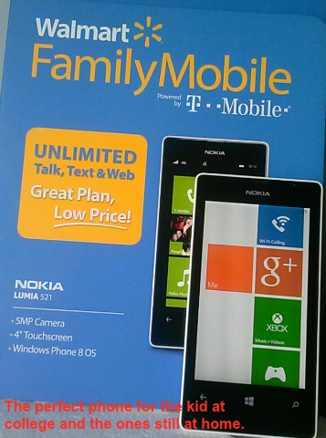 Walmart Family Mobile and the Nokia 521 www.janeanesworld.com