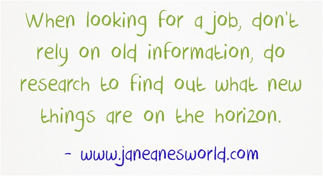 research the job search www.janeanesworld.com