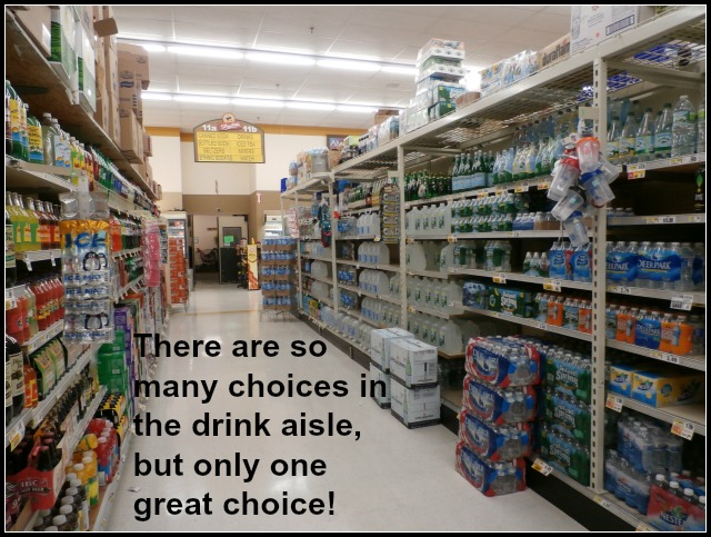 drink aisle for Nestle Pure LIfe Water www.janeanesworld.com