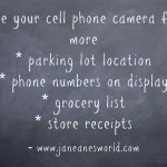 Use-your-cell-phone www.janeanesworld.com