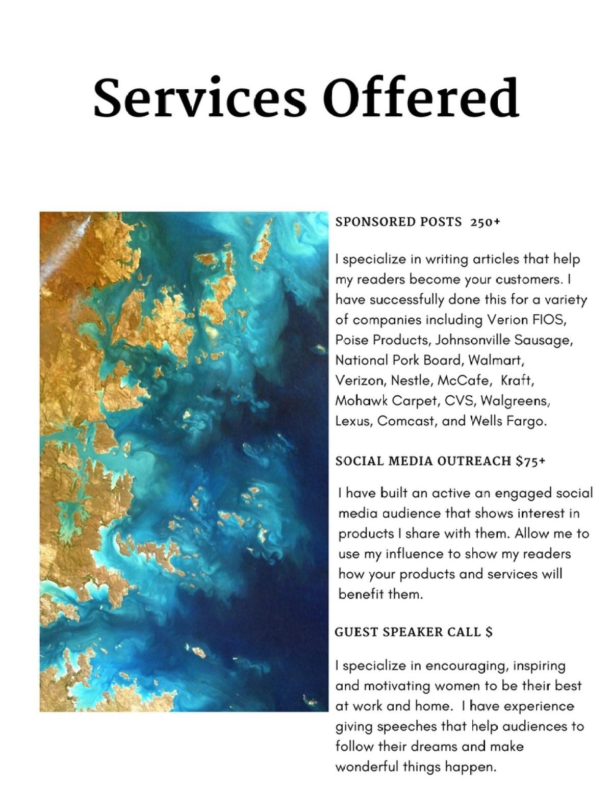 Media Kit Services Offered