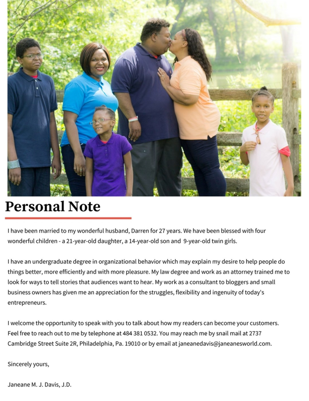 media kit personal note