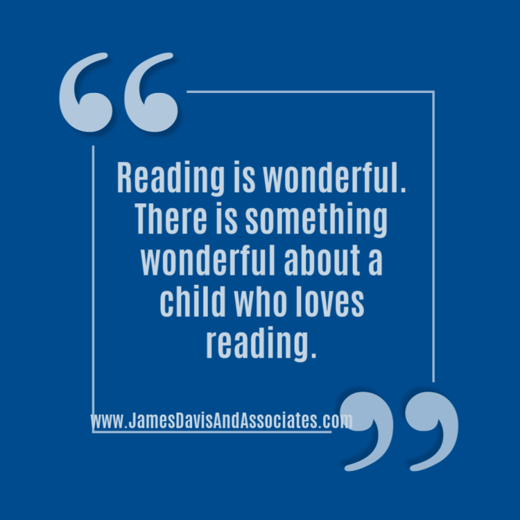 Reading is wonderful. There is something wonderful about a child who loves reading. This is especially true when that child has overcome reading difficulties.