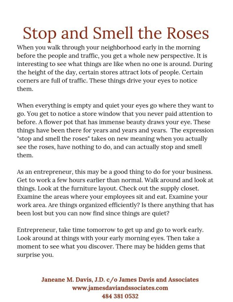 #061719 Newsletter - Stop and Smell the Roses