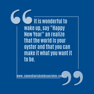 """It is wonderful to wake up, say """"Happy New Year"""" an realize that the world is your oyster and that you can make it what you want it to be"""