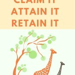 If you want to have a magnificent day, name it, claim it, attain it and then retain it!