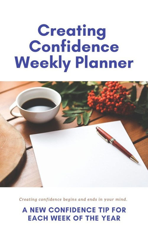 Cover for creating confidence weekly planner