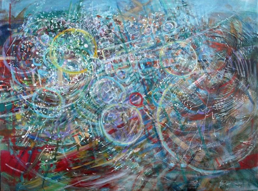 Crescendo 18 × 24 Acrylic on  Canvas (24 x 31 Framed)