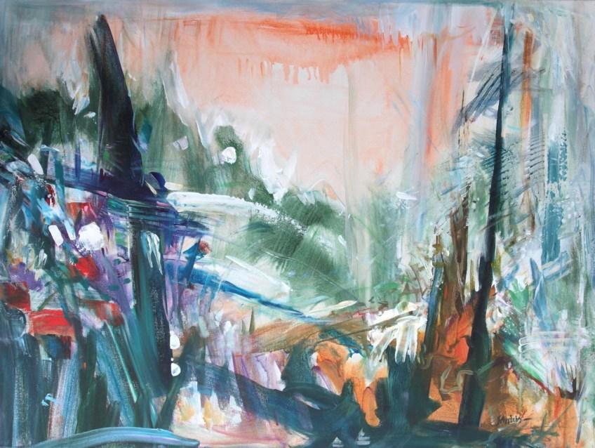 Mountain Expressoin, 30 x 40 Acrylic on Canvas, 2017