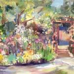 Butterfly Garden, 11x14 Oil on Board, Plein Air  Video 2016
