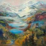 Mountain Vista, 30 x 30, Oil on Canvas