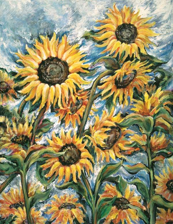 Sunflower Breeze 22 x 28 Giclee Print $385
